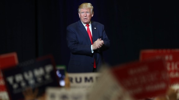 Republican presidential candidate Donald Trump attends his campaign rally at the South Florida Fair Expo Center on October 13, 2016 in West Palm Beach, Florida. Trump continues to campaign against Democratic presidential candidate Hillary Clinton with less than one month to Election Day.