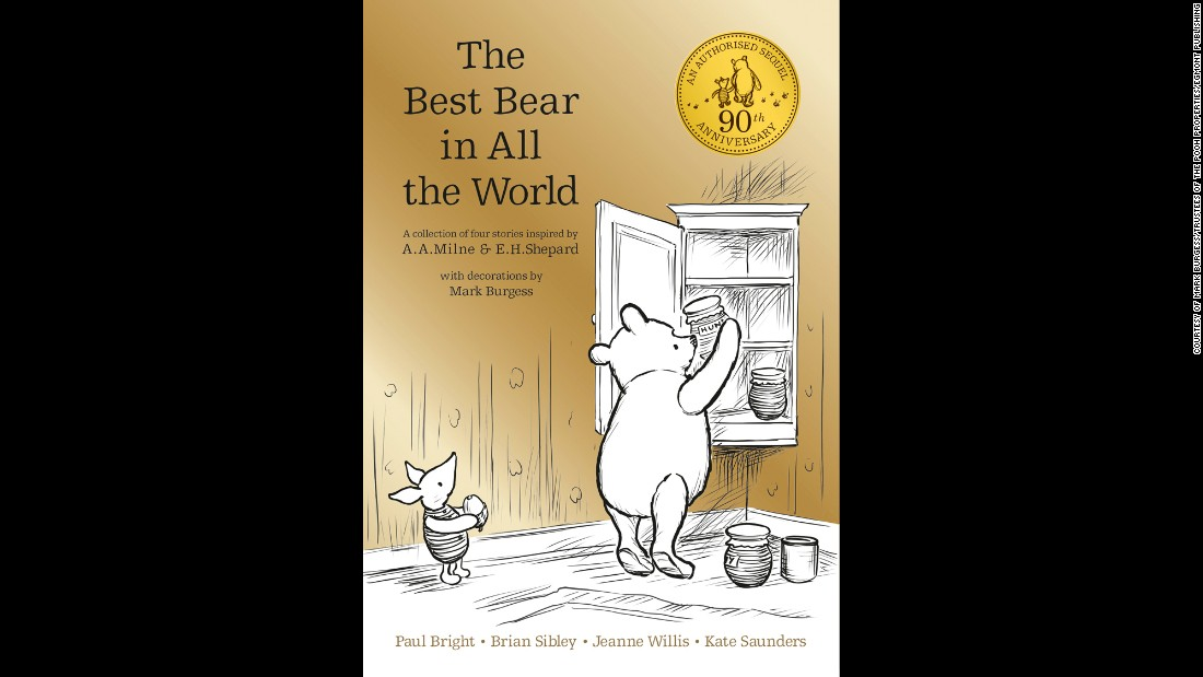 The golden cover of Winnie-the-Pooh, The Best Bear in All the World marks the 90th anniversary of the famous teddy bear.