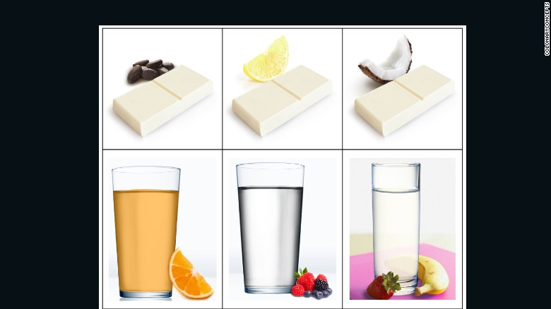 Food Bars And Drinks Pictured Next To Their Flavors Developed By The Biotech Firm
