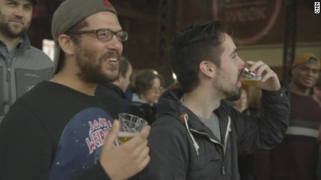 At, Boston's HUBweek innovation festival, hundreds tasted beers made from the Charles' water.