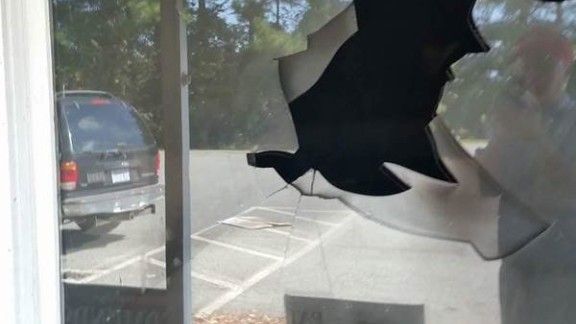 A firebomb was thrown through the window of the Orange County Republican office.