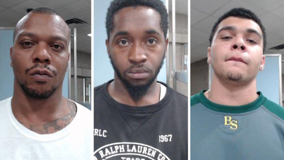 From left, Chazerae Taylor, Dvonta Middlebrooks and D'Markeo Taylor have been charged with wanton endangerment.