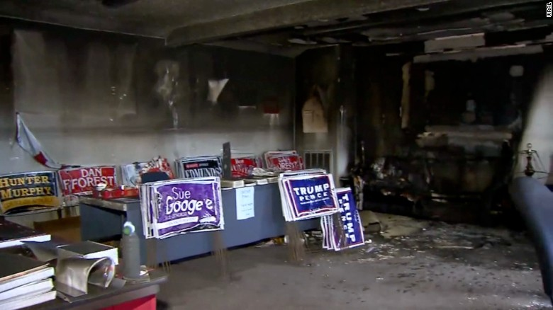 GOP field office firebombed