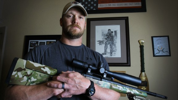 """The late Navy SEAL Chris Kyle, author of """"American Sniper,"""" embodied the pugnacious patriotism that many Americans are taught."""