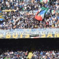 Inter Milan curva nord banner fans two