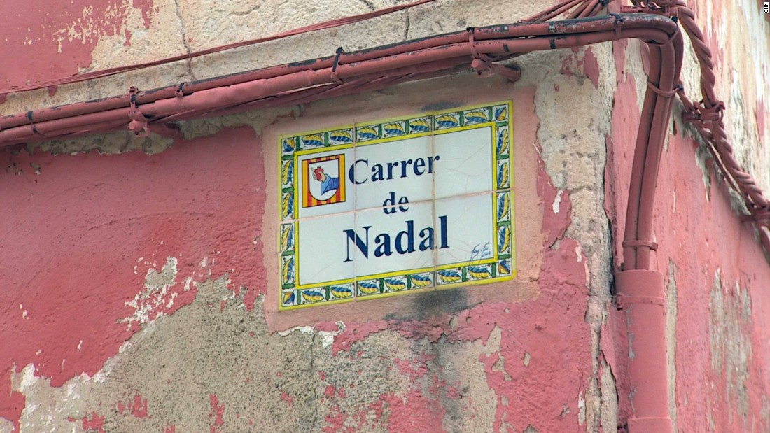 His name is famous on the island -- though this street in Manacor was not named after him.