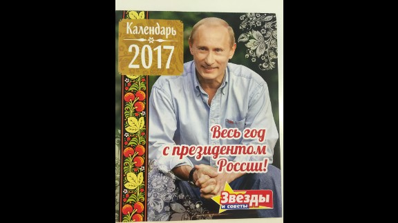 "The 2017 Vladimir Putin calendar is now on sale, featuring photographs and several quotes from the Russian President. ""The whole year with the President of Russia!"" the caption reads."