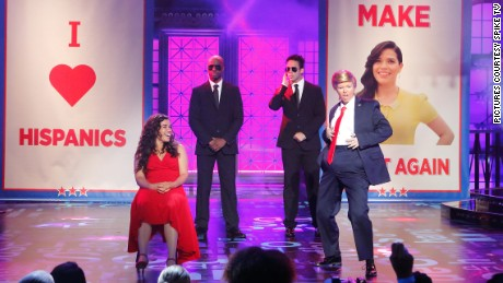 Amber Tamblyn performs as Donald Trump on Lip Sync Battle.