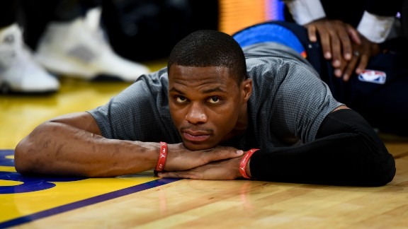 One could argue that Westbrook finally got what he wanted this summer: Full reign over a young, athletic team where every possession will start and end with his decision-making. The Thunder feared the worst when Kevin Durant skipped town, but Westbrook showed character by opting to stay in small market Oklahoma City -- not that the reported three-year, $85.7 million hurt. Westbrook has been a triple-double machine without Durant in the lineup, and -- barring injury -- he