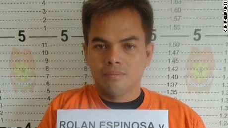 Kerwin Espinosa was arrested in Abu Dhabi Sunday.