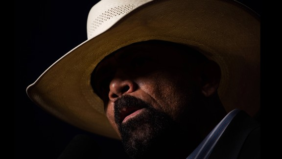 "Milwaukee County Sheriff David Clarke, speaking at a Donald Trump rally on Monday, October 17, claimed that the presidential election was rigged and that it was ""pitchfork and torches time in America."" Trump has come under fire -- from both Democrats and Republicans -- for saying the election is rigged."