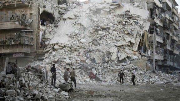 The Syrian regime, along with Russia, have obliterated parts of the city's east.