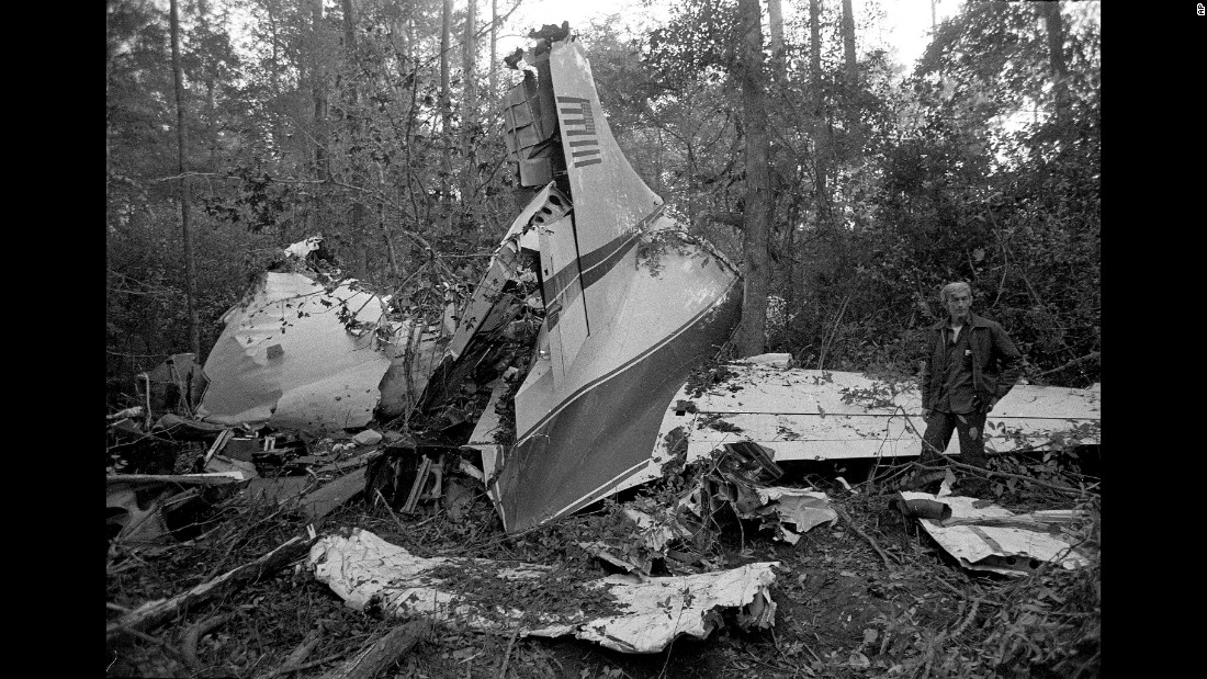 On this day 39 years ago, a plane crash claimed the lives of three members of Lynyrd Skynyrd: lead singer Ronnie Van Zant, guitarist Steve Gaines and backup singer Cassie Gaines. One of the band's road managers was also killed, as were the pilot and the co-pilot, when the plane ran out of fuel and crash-landed in Gillsburg, Mississippi. Twenty people survived, although many were seriously injured. On the anniversary of the crash, we look back at some classic photos of the legendary band, which was inducted into the Rock and Roll Hall of Fame in 2006.