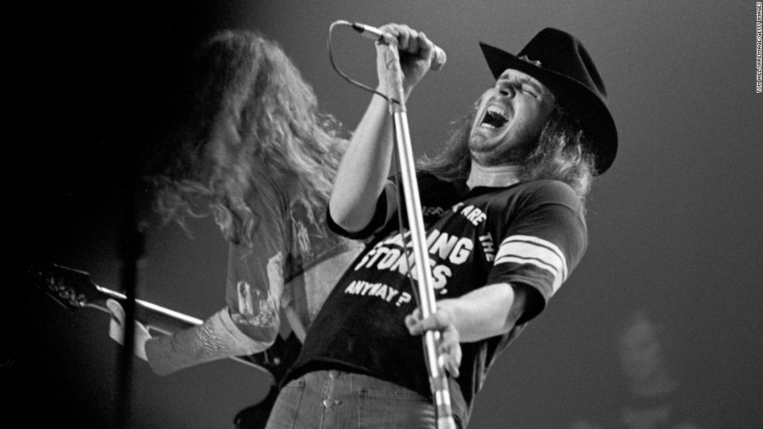 "Van Zant performs at a concert in Atlanta in 1975. ""Ronnie Van Zant <em>was</em> Lynyrd Skynyrd,"" songwriter Al Kooper <a href=""http://www.rollingstone.com/music/lists/100-greatest-artists-of-all-time-19691231/lynyrd-skynyrd-20110420"" target=""_blank"">wrote for Rolling Stone magazine.</a> ""I don't mean to demean the roles the others played in the group's success, but it never would have happened without him. His lyrics were a big part of it -- like Woody Guthrie and Merle Haggard before him, Ronnie knew how to cut to the chase. And Ronnie ran that band with an iron hand. I have never seen such internal discipline in a band."""