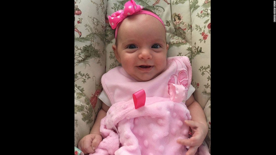 LynLee is now a smiling 4-month old.