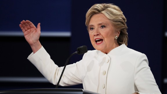 According to MJ Lee, CNN national politics reporter, Clinton's major challenge entering the debate was not so different from the challenge she's confronted over the past few months: presenting the country with a positive vision for her presidency that is detached from her argument against Trump.