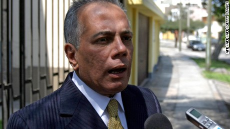 Manuel Rosales, a leading opponent of Venezuelan President Hugo Chavez, speaks to the press in Lima on April 22, 2009. Rosales, who ran against President Hugo Chavez for president in 2006 and now is mayor of the western Venezuelan city of Maracaibo, sought asylum in Peru last 21 April, claiming he was being persecuted by the government of Chavez on baseless corruption charges.  AFP PHOTO/Ernesto Benavides (Photo credit should read ERNESTO BENAVIDES/AFP/Getty Images)