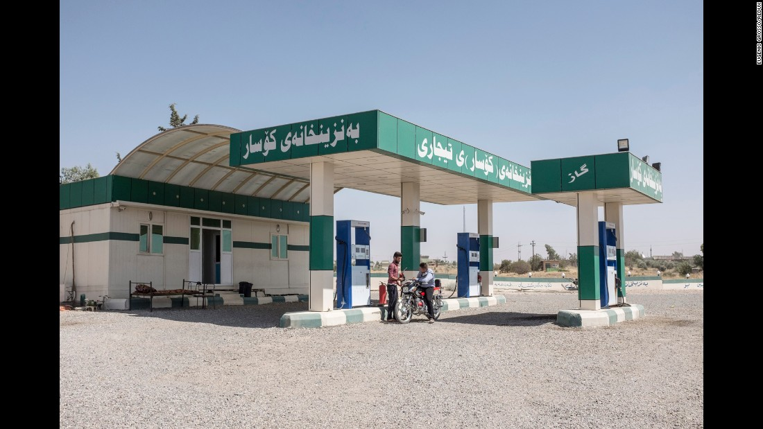 """When I first noticed that there were so many petrol stations concentrated in the same area, I immediately thought that that could be a good way to talk about Iraq,"" Grosso said. ""Oil is the main resource of the country and of the region in general. And it's a curse as well. All the wars and conflicts in that part of the world have the same aim -- to control that richness."""
