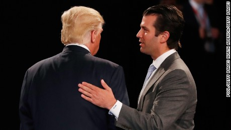 Trump Jr. says campaign is a 'step down' for father