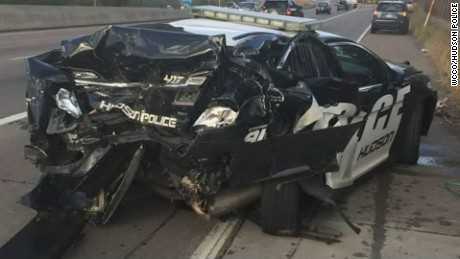 police cruiser crash wisconsin