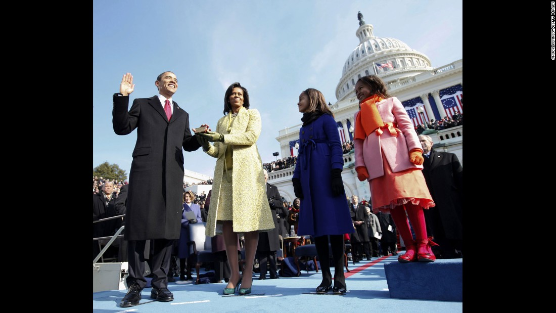 Barack Obama is sworn in as the 44th President of the United States on January 20, 2009. Click through the gallery to see 100 moments from his administration.