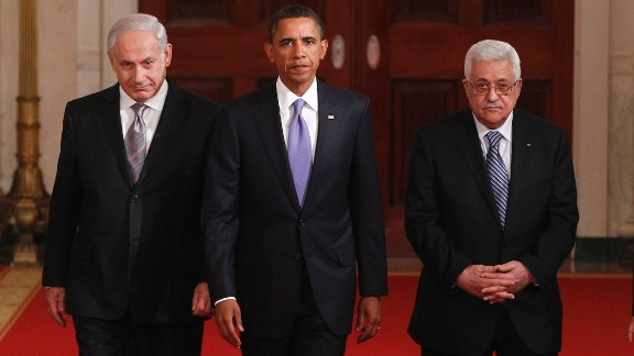 Obama hosted a working dinner with Mideast leaders on September 1, 2010. With Obama, from left, are Egyptian President Hosni Mubarak, Israeli Prime Minister Benjamin Netanyahu, Palestinian Authority President Mahmoud Abbas and Jordan