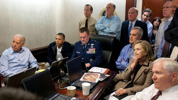 The famous photo of Obama administration officials watching the raid on Osama bin Laden