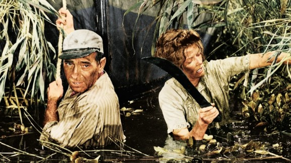 """""""The African Queen"""": Humphrey Bogart and Katharine Hepburn star in this classic film which won Bogart his only Academy Award, for best actor. (Netflix)"""