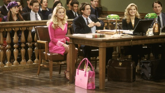 """""""Legally Blonde"""":  Elle Woods turns tragedy into triumph when getting jilted leads her to law school, in the film which has since spurred a Broadway musical. (Amazon Prime)"""
