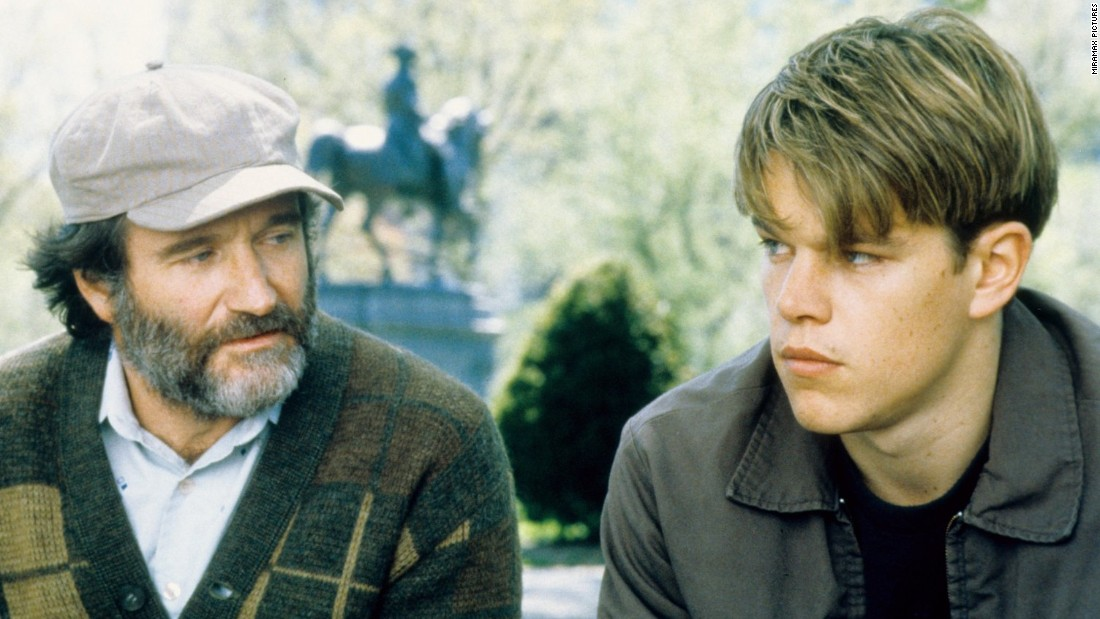"<strong>""Good Will Hunting"": </strong>How do you like them apples? Matt Damon (here with co-star Robin Williams) and Ben Affleck won a screenwriting Academy Award for this film about a Boston bad boy who comes to terms with himself. <strong>(Hulu) </strong>"