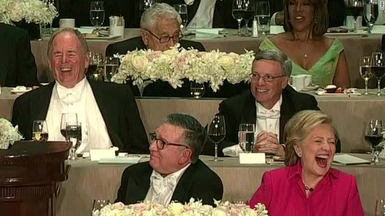 Trump digs at Clinton during Al Smith dinner