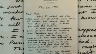The letter George H.W. Bush left for Clinton is a lesson in elegance