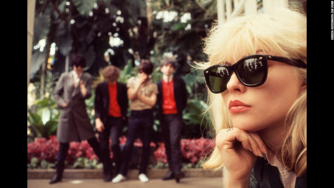 "Debbie Harry and members of Blondie pose at Golden Gate Park in San Francisco. Zagaris would usually go into a shoot with only a rough idea of what he wanted to do. ""When you're shooting, you're meeting the band sometimes for the first time,"" he said. ""And a lot of what you do is going to depend on the chemistry that flows between you and the band."""