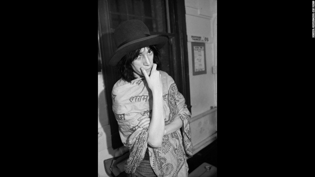 Patti Smith poses in a dressing room at the Boarding House nightclub in San Francisco. Zagaris was on assignment for After Dark magazine.