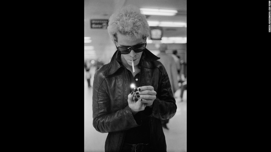 "This photo, which is also the cover image of ""Total Excess,"" shows Lou Reed at San Francisco International Airport. ""It said everything about that period,"" Zagaris said. ""It just screams total excess."""
