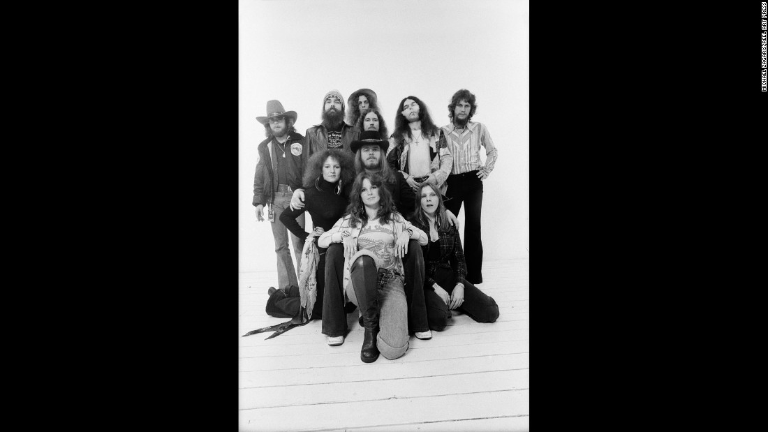 "On the day before New Year's Eve in 1976, Zagaris took photos of Lynyrd Skynyrd for the band's album. This would be one of their last shoots together. On October 20, 1977, the <a href=""http://www.cnn.com/2016/10/19/entertainment/gallery/tbt-lynyrd-skynyrd/index.html"" target=""_blank"">band's plane crashed, </a>killing three members."
