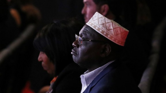 Malik Obama, President Barack Obama's Kenyan-born half-brother, was one of Donald Trump's guests at the presidential debate in Las Vegas. In July, Malik Obama voiced his support for the Republican.