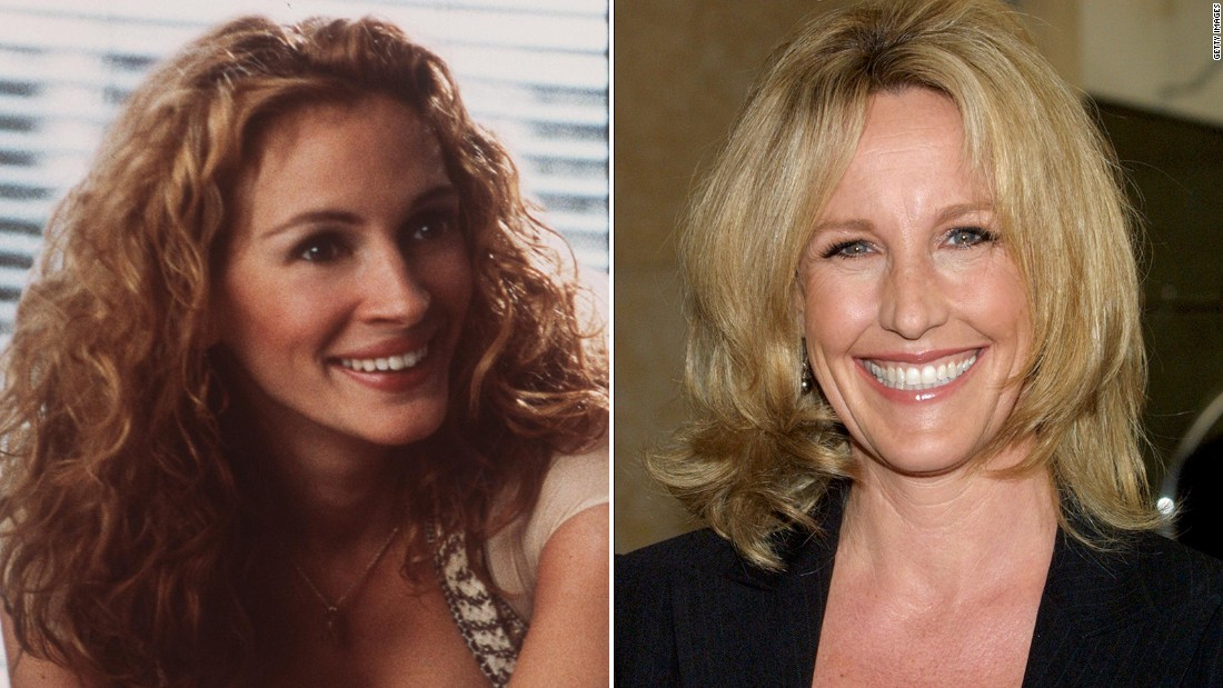 Julia Roberts, left, received an Academy Award nominated for her portrayal of environmental activist Erin Brockovich, right, in a 2000 film. Click through to see more photos of Roberts in the movie.