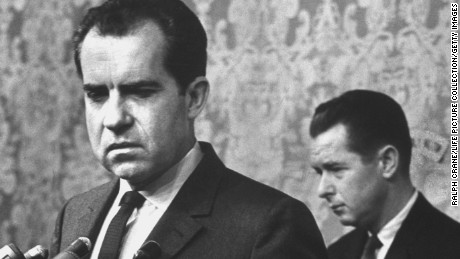 Richard M. Nixon concedes in 1962 California governor's race.