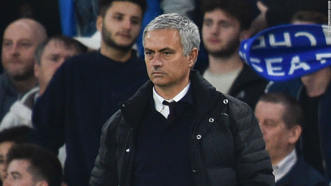A miserable Mourinho watched on during United's humiliating English Premier League defeat to his old club Chelsea in October 2016. As the 4-0 thrashing unfolded, the Portuguese stood stony-faced on the touchline with his hands in his pockets.