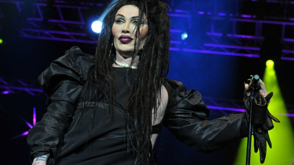 Pete Burns of Dead or Alive performs on stage at Hit Factory Live on December 21, 2012 in London, England.