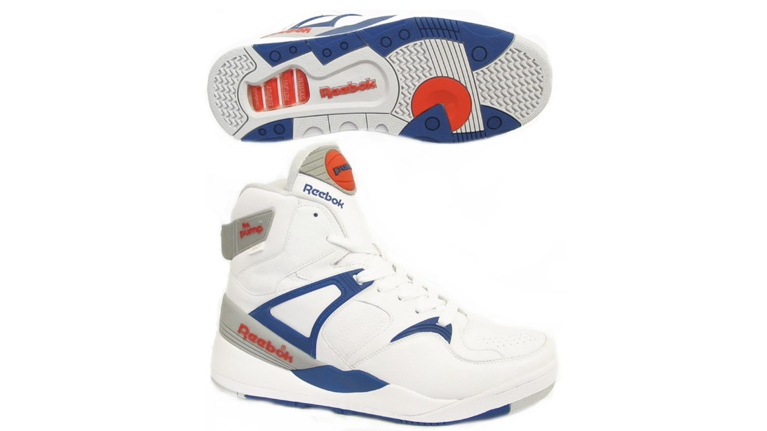 "Launched in 1989 in a bid to rival Nike Air Max, Reebok's Pump was a sneaker game changer -- the first shoe with an inflation chamber in the tongue that pumped up to provide a custom-fit around the ankle. When Boston Celtic's <a href=""https://www.youtube.com/watch?v=bQOeLu1kcdU"" target=""_blank"">Dee Brown bent down to inflate his Pumps</a> before netting a reverse dunk in the 1991 Slam Dunk Competition, the shoes became a cult classic, which have spawned many <a href=""http://www.reebok.co.uk/court-victory-pump/AR3174.html?slot=1"" target=""_blank"">iterations</a> since."