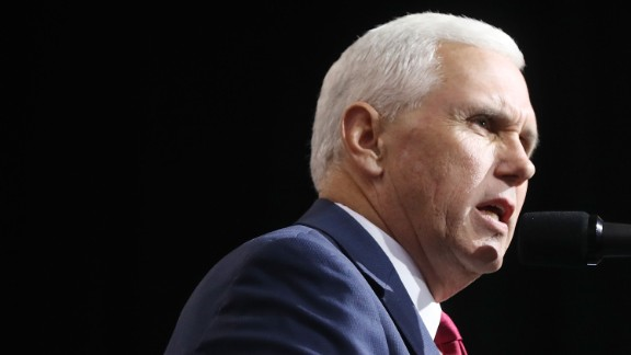 Vice Presidential candidate Mike Pence speaks before Donald Trump at a rally on October 22, 2016 in Cleveland, Ohio.