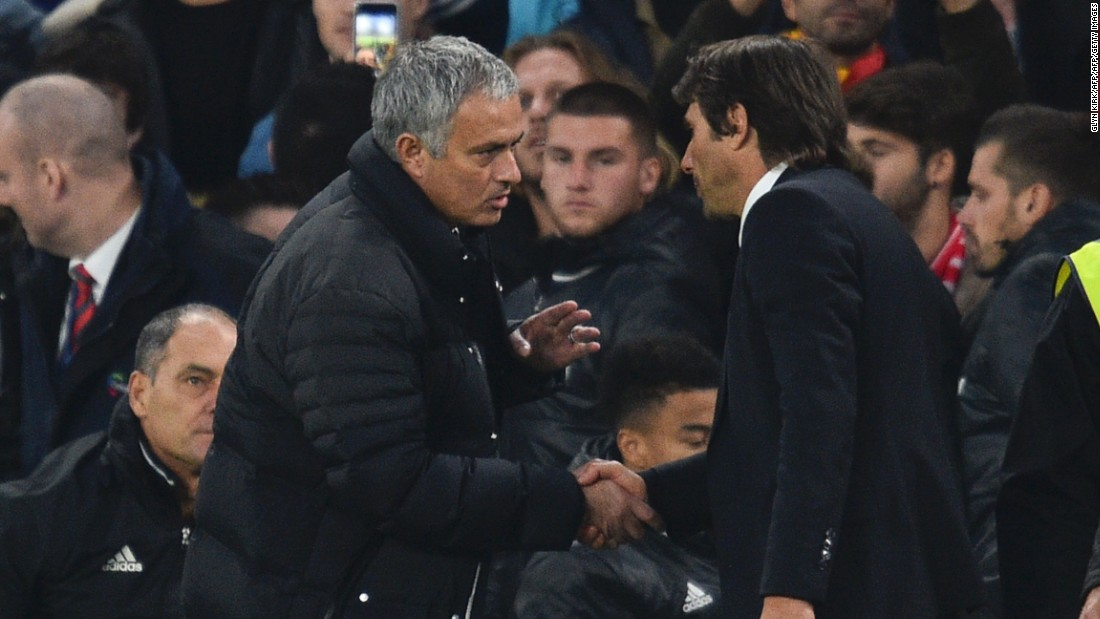 "Mourinho appeared to take issue with this, reportedly telling Conte it was humiliating, and that it would have been more appropriate at 1-0 instead of at 4-0. Neither manager would be drawn on what was said afterward but Conte did add: ""If you want to cut the emotions, we can stay at home and I will change jobs."""