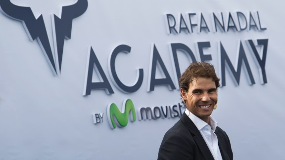 Spanish tennis player Rafael Nadal smiles during the opening of the Rafa Nadal Academy in Manacor on October 19, 2016. / AFP / JAIME REINA        (Photo credit should read JAIME REINA/AFP/Getty Images)