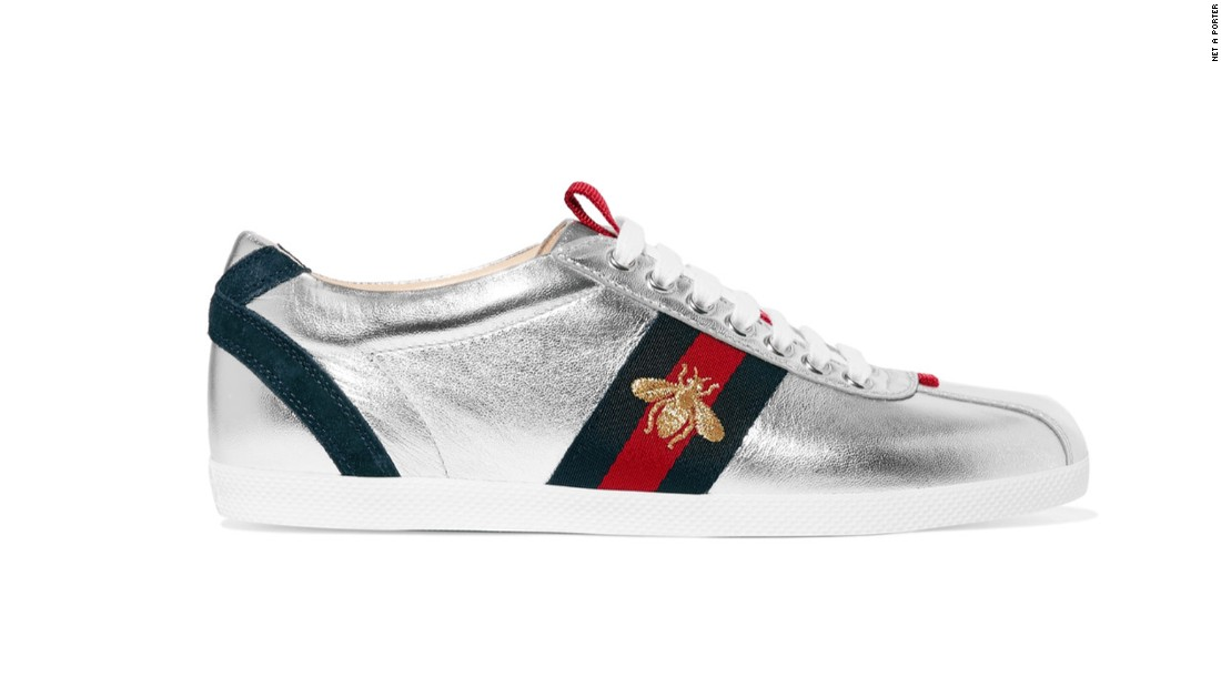 "Gucci became the first luxury designer brand to produce sneakers in 1984. It's <a href=""https://www.mrporter.com/en-gb/product/704456?cm_mmc=ProductSearchPLA-_-GB-_-Shoes-_-Sneakers-Google&ignoreRedirect=true&ppv=2&cm_mmc=GoogleUK--c-_-MRP_UK_EN_PLA-_-UK%20-%20GS%20-%20Price%20Bands---_-__pla-104396119772&mkwid=sVWlc3CyT