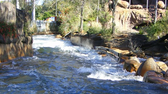 The Thunder River Rapids Ride at Dreamworld, Queensland.