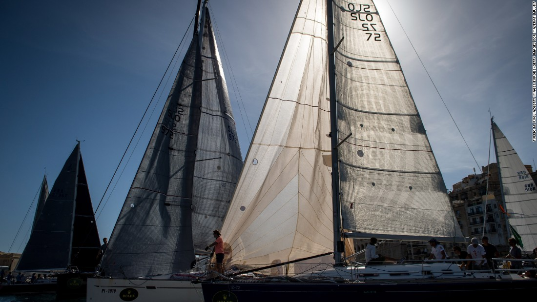 The sun shines through the sails of yachts during what is one of the world's most spectacular races.