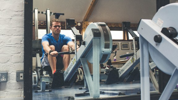 It began with punishing sessions on the indoor rowing machine at his prison aided by one of his prison officers.