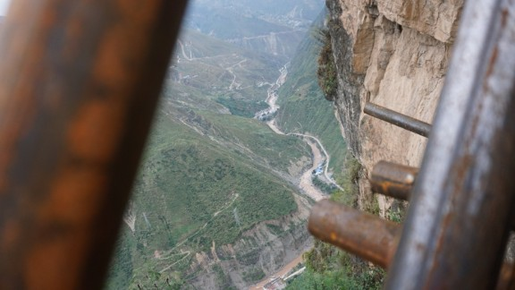The village started to construct the ladder in August with an investment of 1 million yuan ($147,928) from local authorities.
